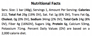 WHAT KNOTS Nutrition Facts